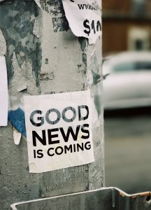 Bill Poster 'Good News is Coming'