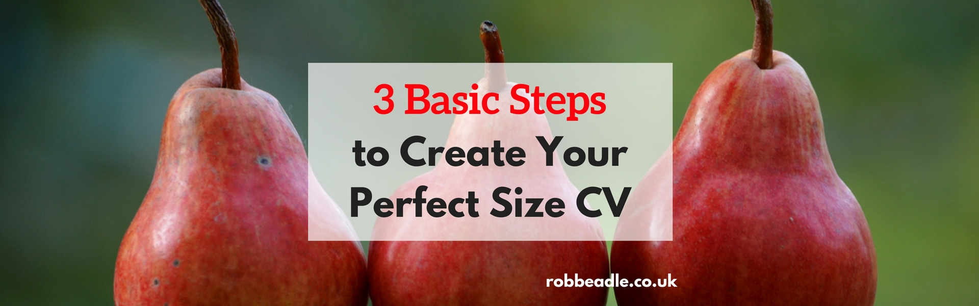 3 red pears - 3 basic steps to create your perfect size cv