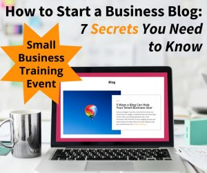 How to Start a Business Blog - Training event