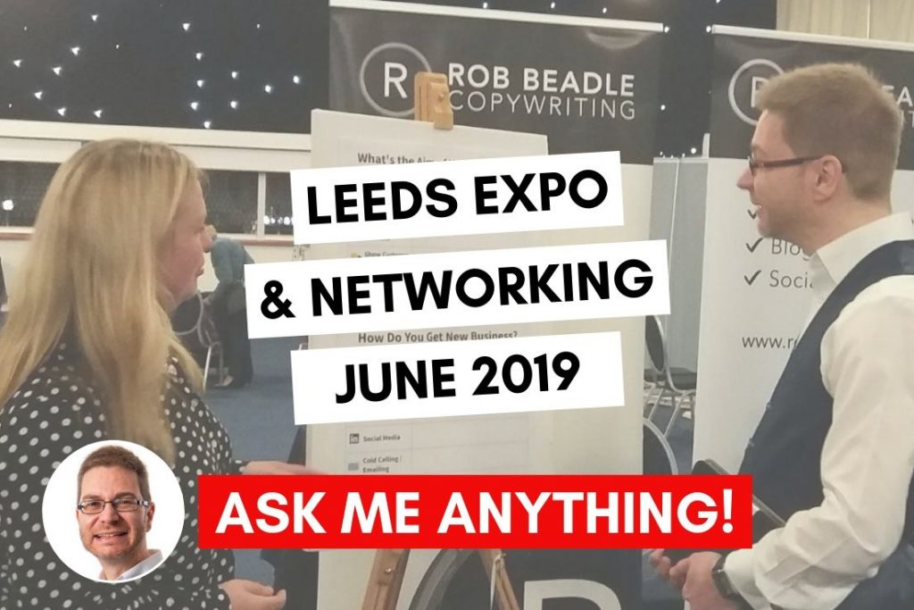 Leeds Expo and Networking ask me anything