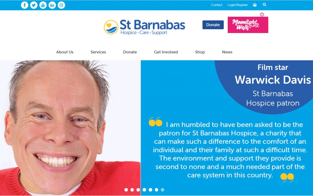 St Barnabas Hospice website