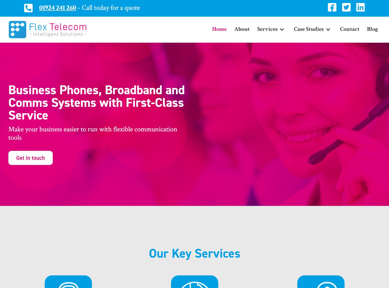 Flex Telecom website screenshot