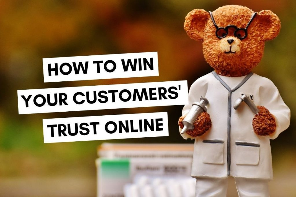How to Win Your Customers Trust Online bear dressed as a doctor