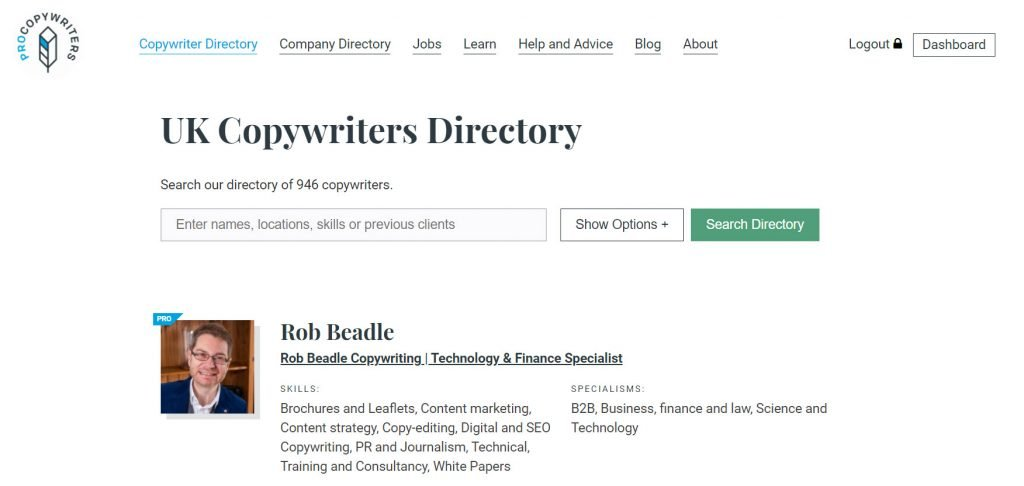 ProCopywriters Directory