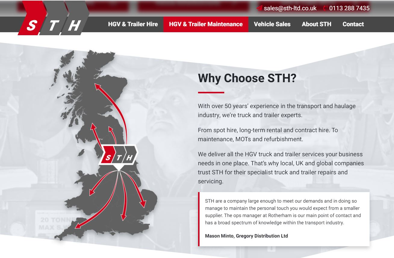 STH website content screenshot