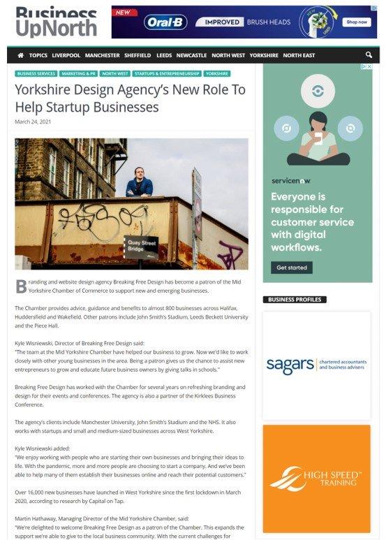 Breaking Free Design News Story
